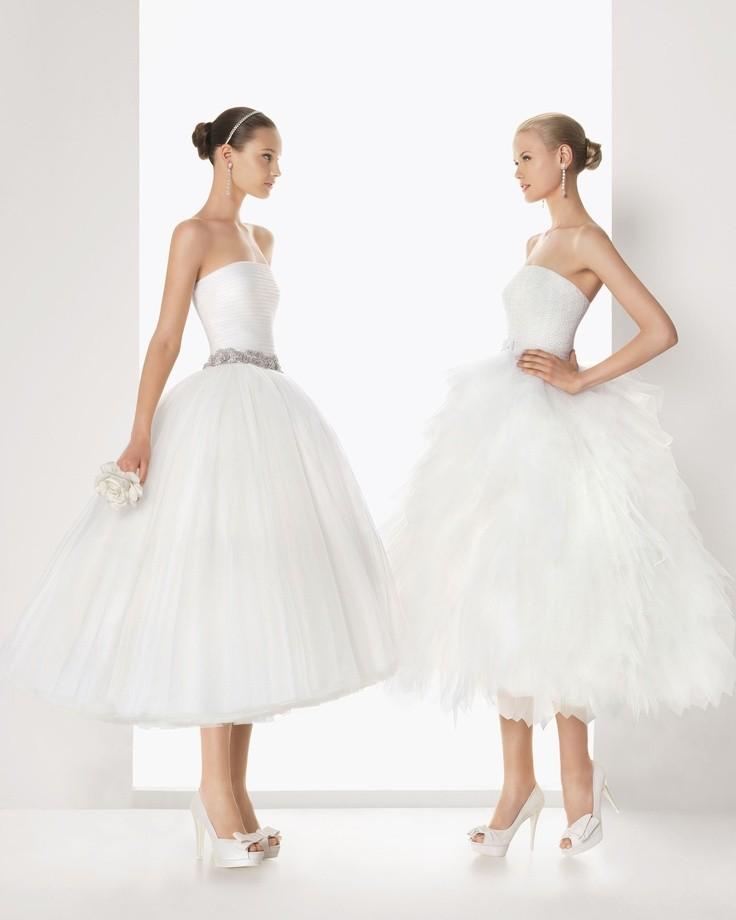 Vestidos de noiva curtos da coleção Rosa Clara