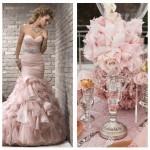 Vestido de noiva com cor, esta semana apaixone-se pelo rosa