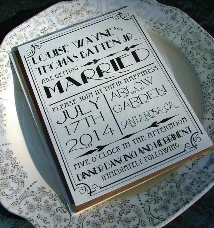 Convites de Casamento para Art Deco