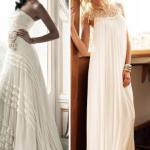 Tendência em modelos de vestidos de noiva | vestido plissado St. Patrick