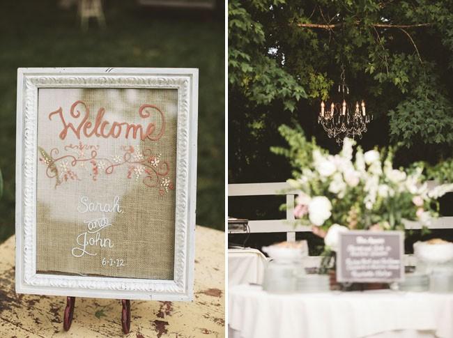 decoração de jardim para casamentos - Para uma decoração mais clássica, flores e elementos em branco.