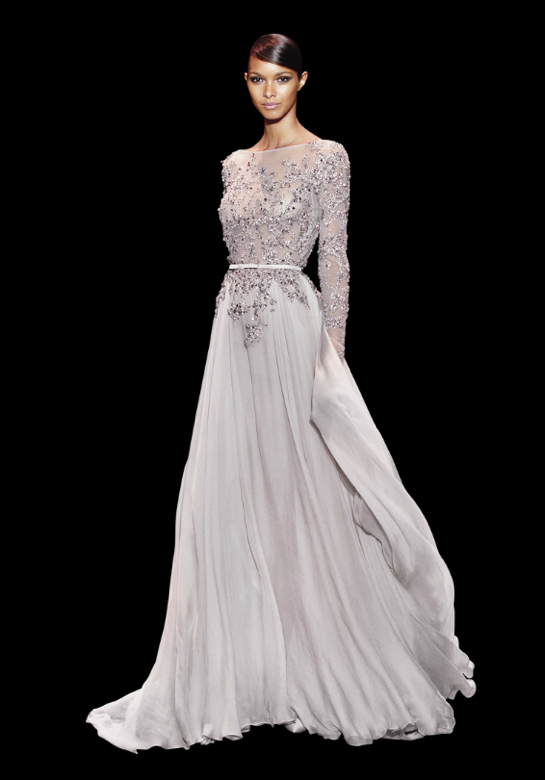 Tons de cinza também marcaram esta coleção de Elie Saab - vestidos para convidadas de casamento Elie Saab