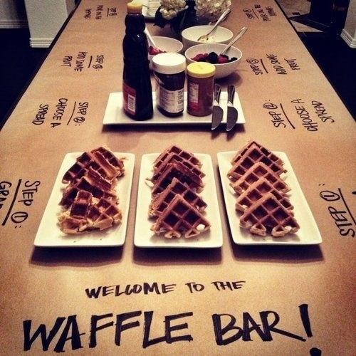 O seu casamento será um brunch? Que tal apostar em um Waffle Bar? #rimou - ideias criativas para casamento - foto de veronicayem