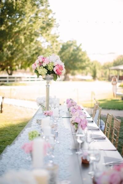 Decoração para casamento no campo na primavera