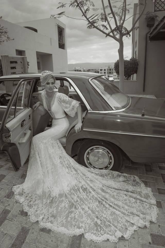 Vestido de noivas Tal Kahlon para noivinhas que curtem mangas