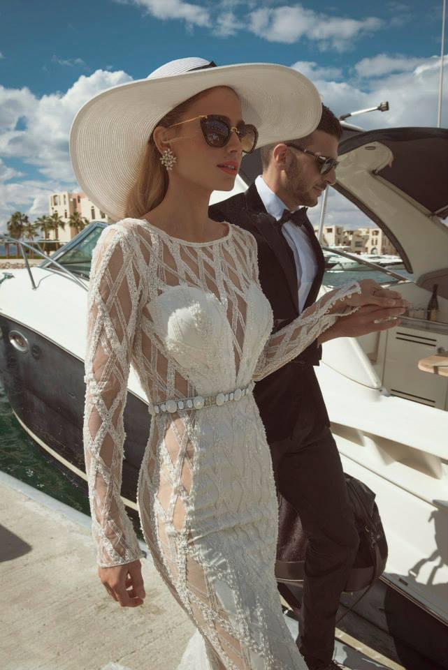 Vestido de noivas Tal Kahlon 2014 com transparência. Lindo!