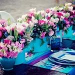 Perfeito para decorações de contraste, o scuba blue combina perfeitamente com roxo, rosa e tons pastéis.