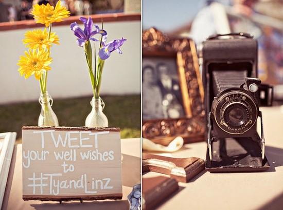 """""""Tweet Your Best Wishes"""" - modern day high tech wedding"""