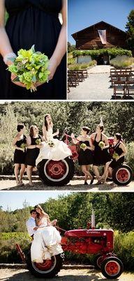Un casamiento en el campo permite un sinfín de fotografias creativas