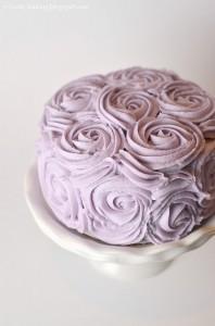 Torta decorada con patrones de diseño