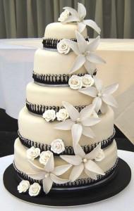 Una delicia de torta de casamiento!