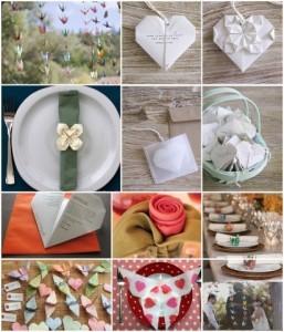 Fiesta de casamiento decorada con origami!