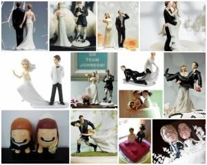 Muñecos de torta de bodas