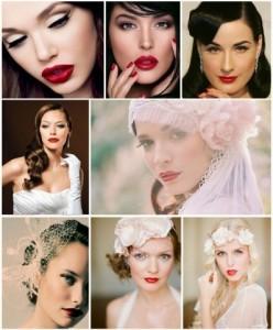 Maquillaje retro para el gran día