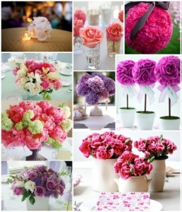 Dale color a tu casamiento con estos centros de mesa para casamiento florales!!!