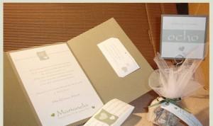 Conjunto de tarjetas de casamiento