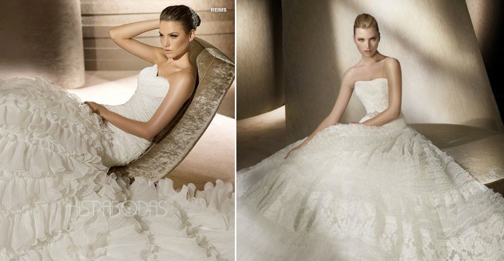 Vestido de novia blanco hielo