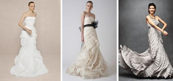 El plisado le da movimiento y estiliza tu figura | Vestidos de Novia