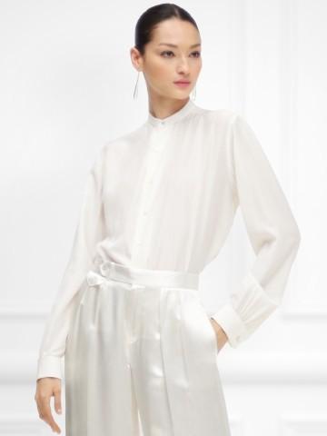 trajes de novia Creación inspirada en una colección anterior de trajes masculinos de Ralph Lauren