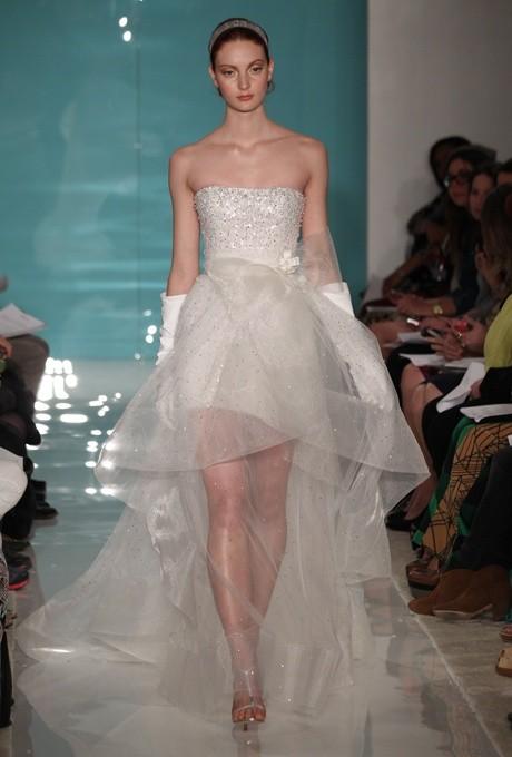 Colección de vestidos de novia cortos de Reem Acra 2013
