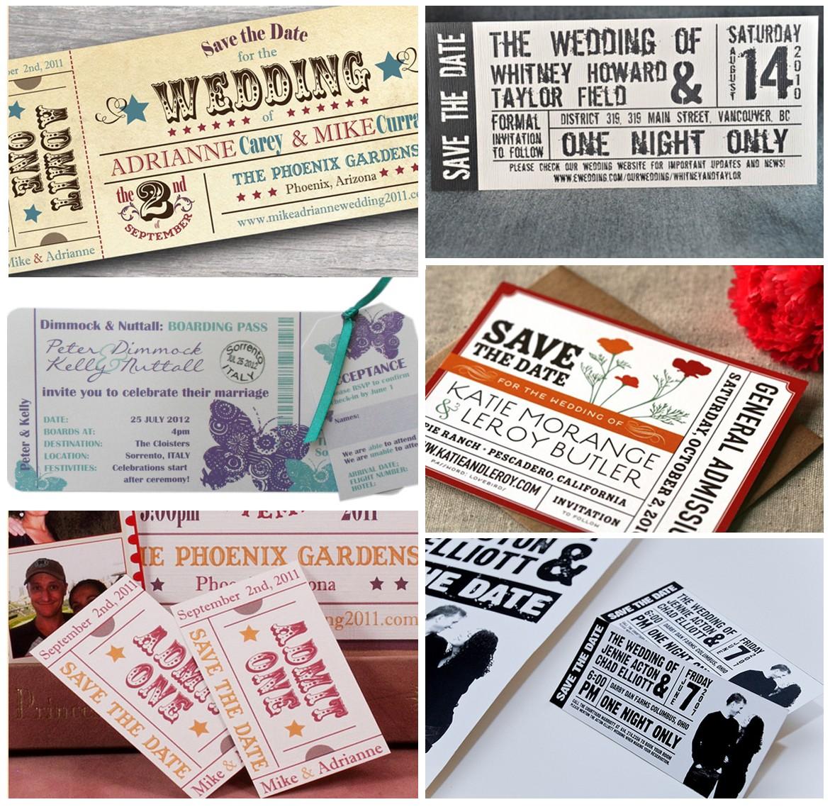 """Te presentamos algunos modelos de tarjetas """"ticket"""" para que te inspires"""