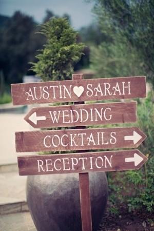 Carteles señaladores para bodas campestres | foto
