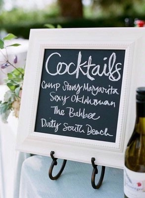 Decoración para bodas campestres para Barra de tragos y coctails | foto