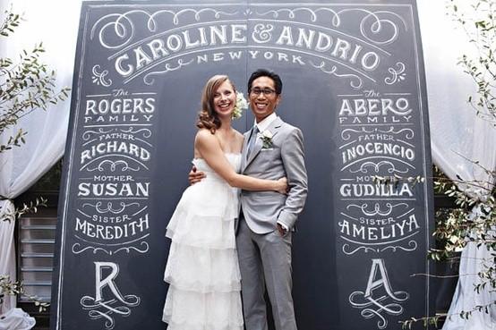 Cartel de bodas