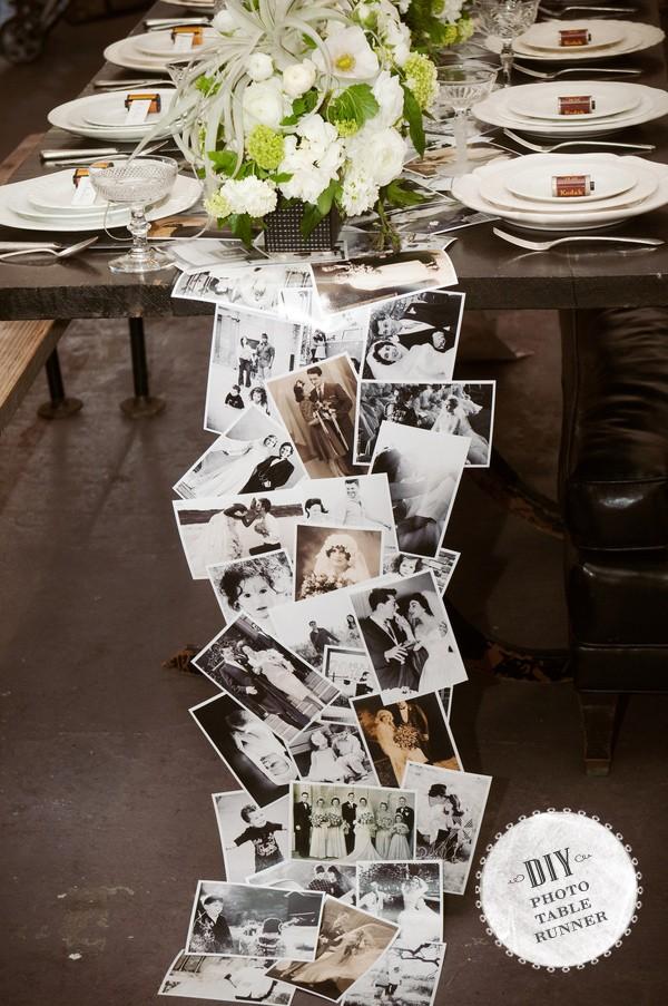 Decoraciones para mesa con fotografías | foto