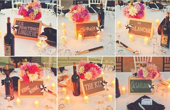 Decoración para bodas campestres | Carteles de señalización de mesas | Foto