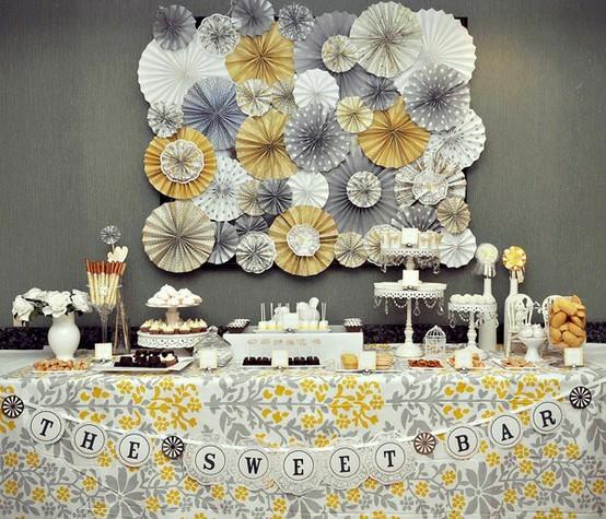 Como decorar bodas con amarillo y gris