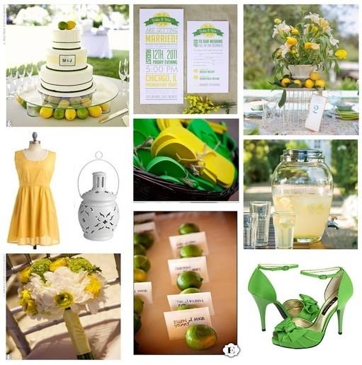 Como decorar bodas cítricas: lima y limón