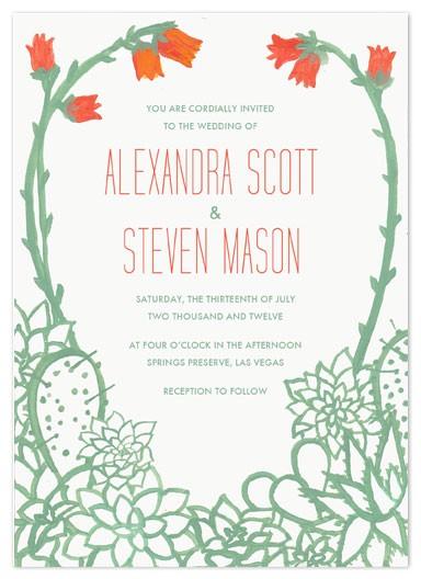 Flores para Bodas en Tarjetas de invitación de bodas temática