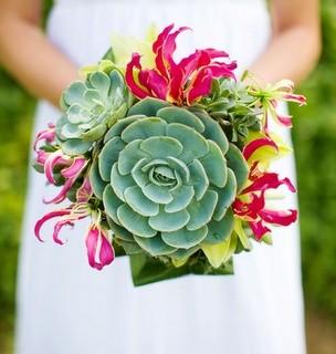 Bouquet con suculentas