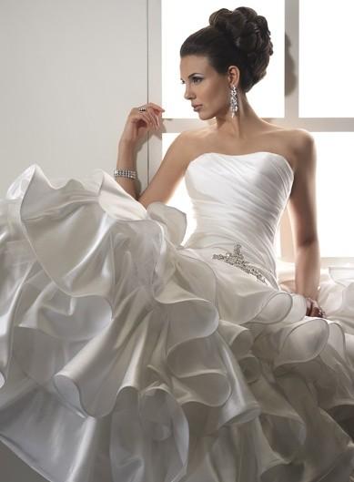 vestidos de novias para gorditas con corset | foto
