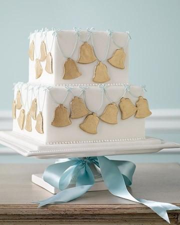 Pasteles para una boda cuadrados con campanas | Photo