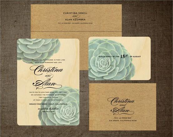 Flores para Bodas | Invitaciones de boda temáticas