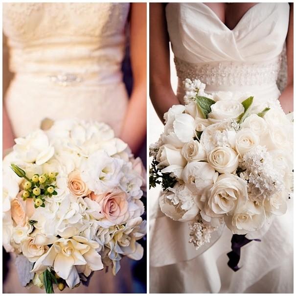 Ramos de novia naturales con flores blancas