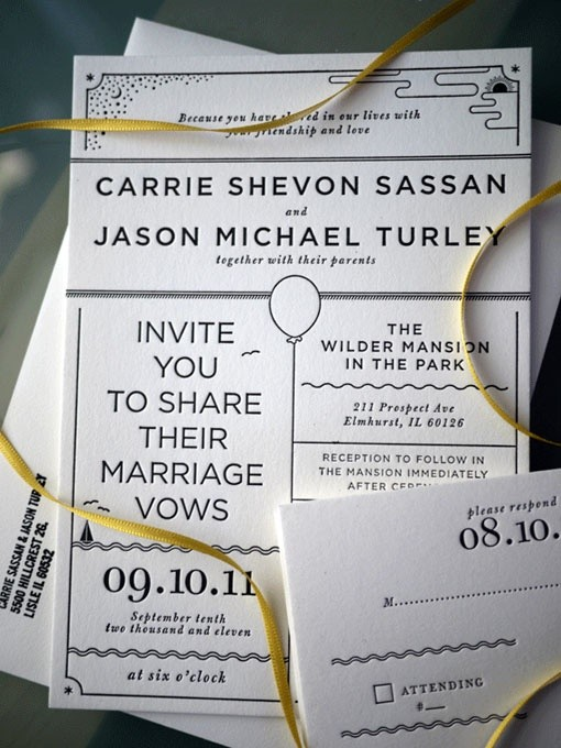 Presupuesto para una boda - tarjetas de invitación simples
