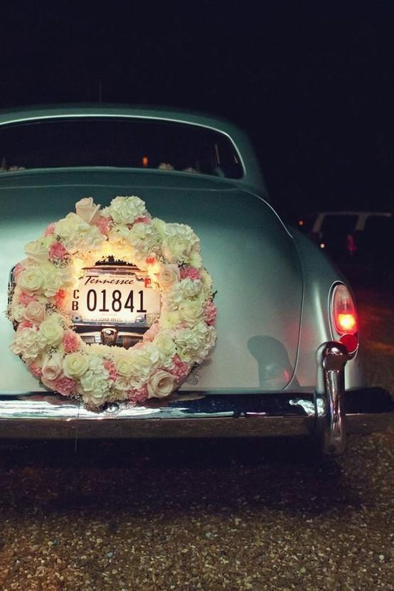 Autos Clásicos para bodas con flores foto