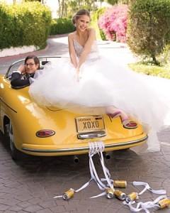 Coches para bodas decorados