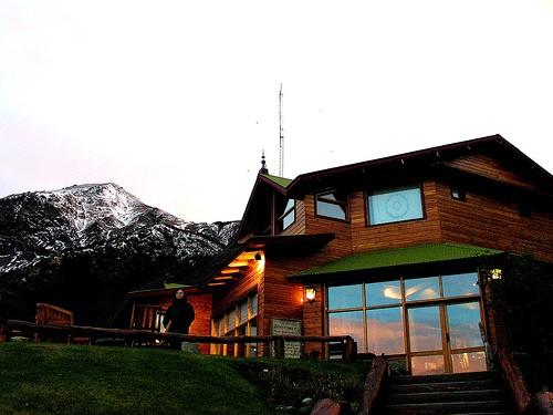 San Valentín en una hostería en el glaciar Perito Moreno