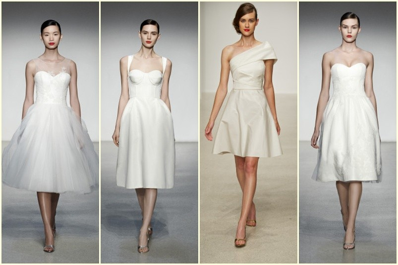 vestidos de novia cortos Amsale