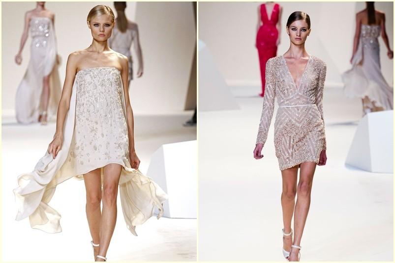 vestidos de novia cortos Elie Saab