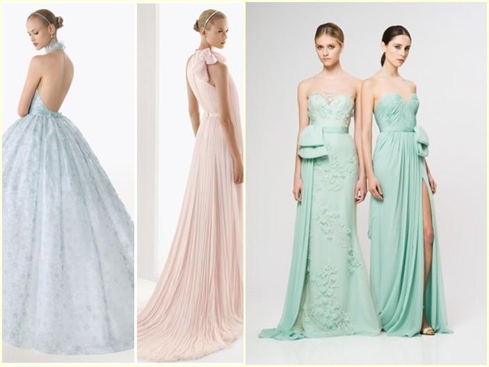 Vestidos de Novia en tonos pastel