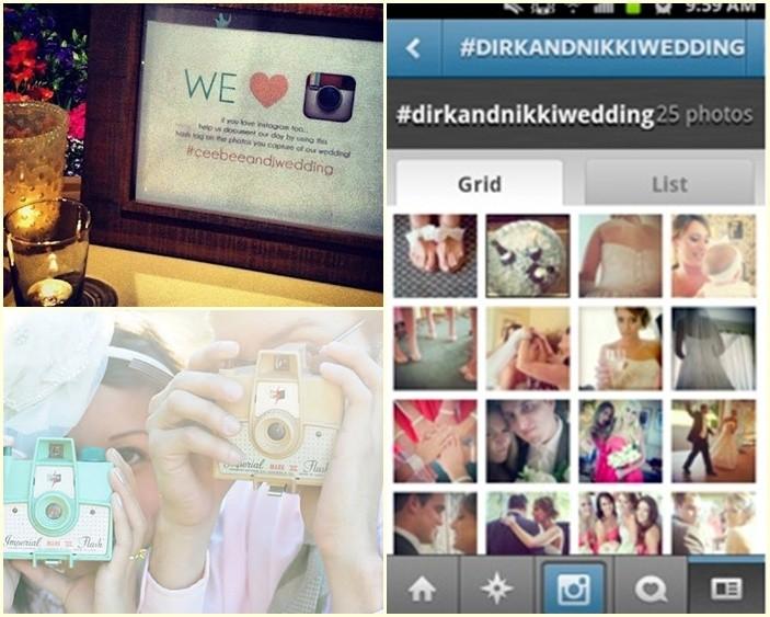 Bodas en Instagram con Hashtags