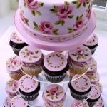 Tortas de casamiento originales con cupcakes