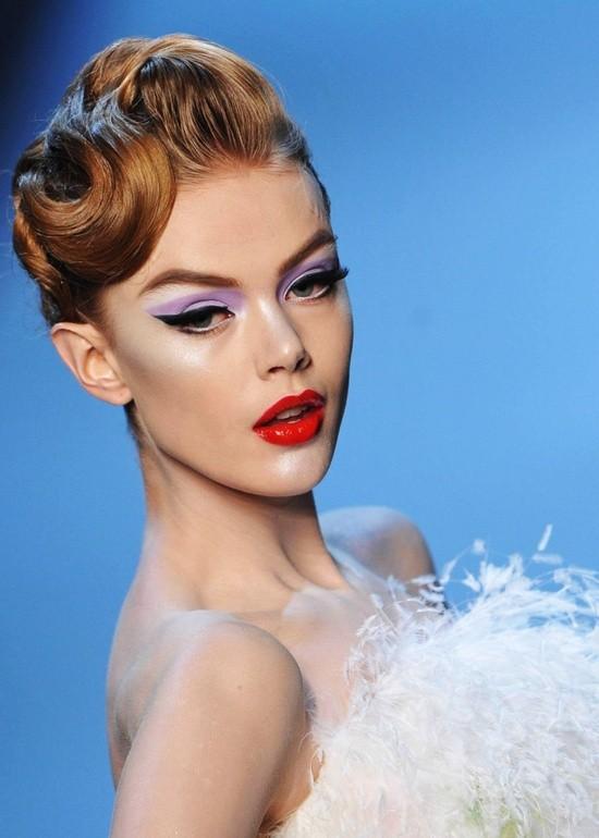 Maquillaje de novia retro glam de Christian Dior