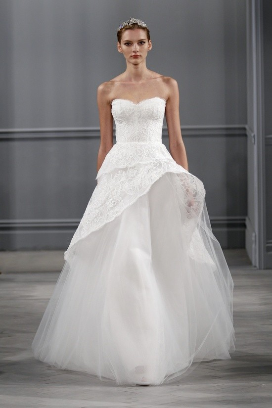 Monique Lhuillier vestidos coleccion 2014 - Azure