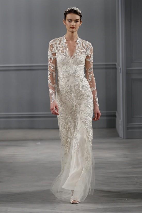 Monique Lhuillier vestidos coleccion 2014 - Clementine